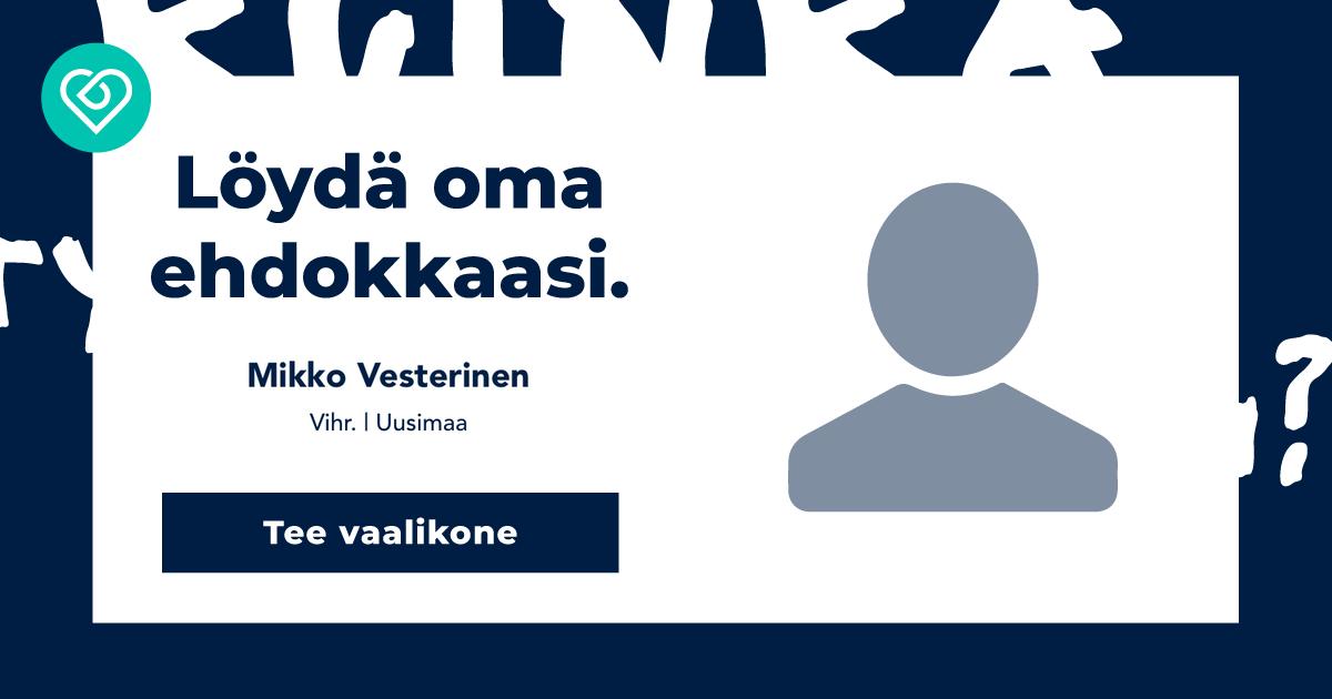 Eduskuntavaalit Ehdokkaat Uusimaa