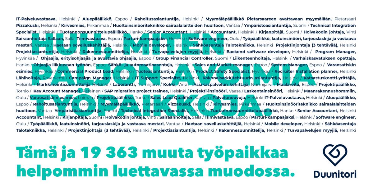 Varastotyöntekijä Turku